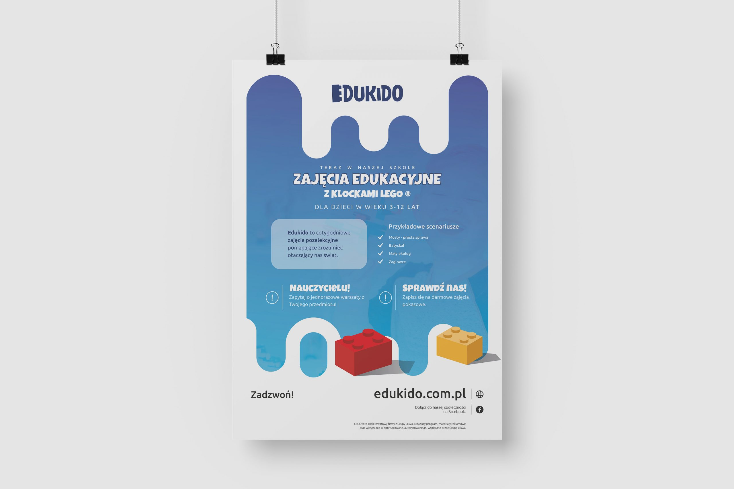 Projekt graficzny plakatu dla firmy Edukido