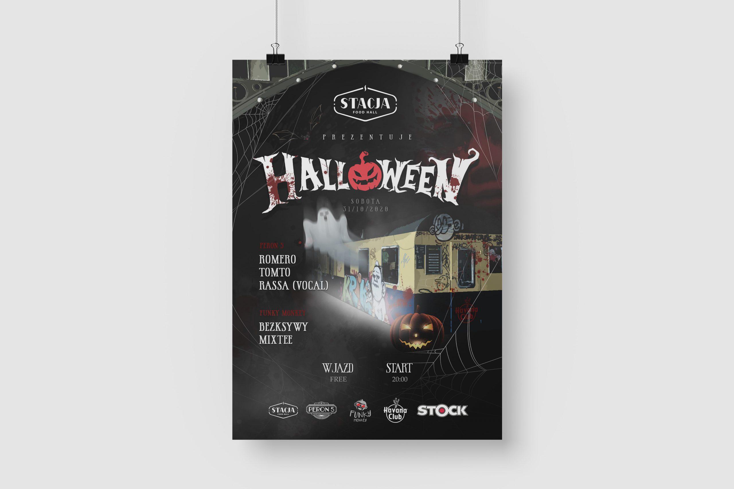 Projekt graficzny plakatu dla firmy Food Hall