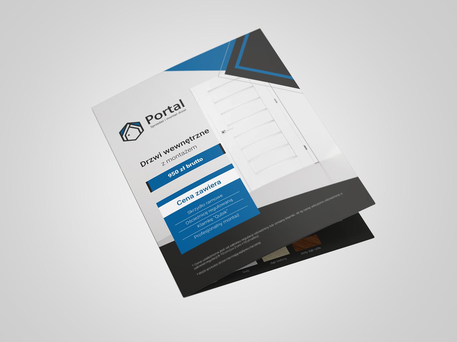 Projekt graficzny broszury składanej dla firmy Portal