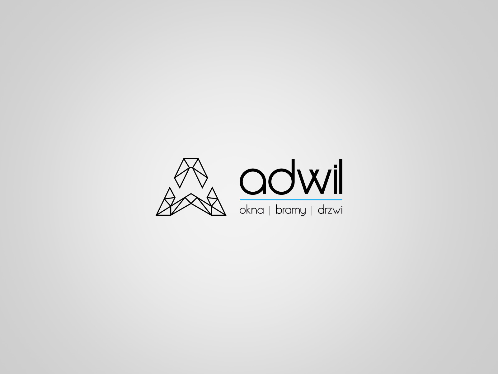 Projekt graficzny logo dla firmy Adwil