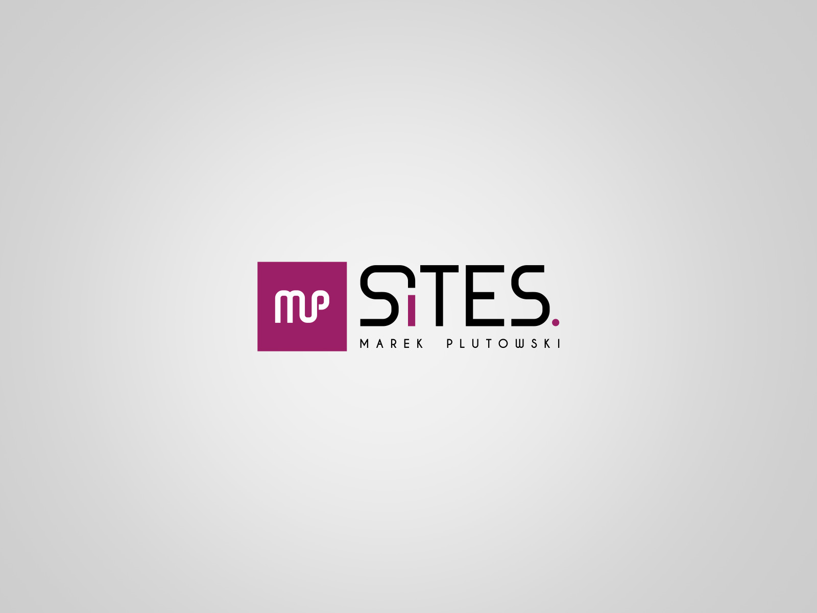 Projekt graficzny logo MP Sites